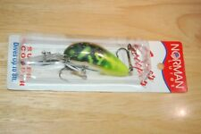 old norman lures super scooper  chrome chartreuse bass pike crankbait