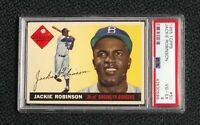 Brooklyn Dodgers Jackie Robinson 1955 Topps #50 PSA 4 Vg-Ex Well Centered