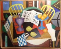 Roland CHANCO 1914 - 2017 Cubisme Le Vase Violet Huile Catalogue raisonné n°2198