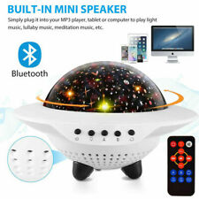 Bluetooth LED Rotating Star Projector Music Speaker Baby Night Light Kids Room