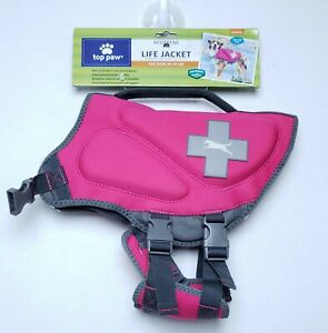Neoprene Dog Life Jacket by TOP PAW, Pink, Medium (30-55 lbs) NWT