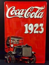 COCA COLA TRUCK 1923 Vintage Metal Wall Sign 3D Embossed ~COKE 20x30 Cm