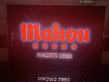 Mahou Spanish Larger Large Light Up Sign Pub Shed Bar Man Cave