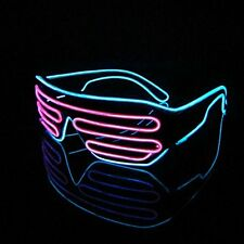 Pink + Blue glasses Neon wire EL Shutter party disco club Activity & controller