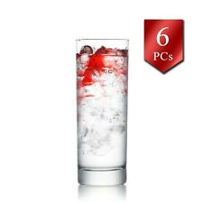 Water Drinking Glass Set of 6, 10oz-315cc, Long Water and Juice Glasses Tumbler