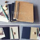 Spiral Bound Coil Sketch Book Notebook Kraft Sketching Paper Hard Back Blank US