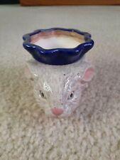 Adorable Bunny Rabbit African Violet 2-Piece Pot Planter