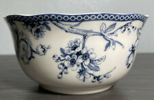 """222 Fifth Adelaide Blue and White Round Small Bowl 5 6/8"""""""