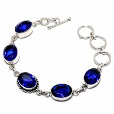 "Fashion Jewelry Bracelet 7-8"" Sb3685 Blue Sapphire Gemstone Handmade Ethnic"