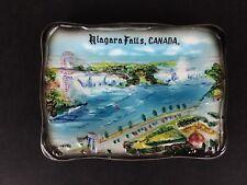 Vintage Niagara Falls Canada ESD Japan Souvenir Porcelain Wall Hanging Plaque