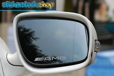 Mercedes AMG Logo Etched Glass Effect Car Wing Mirror Decal Stickers x2