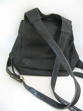 VTG LIBAIRE CLASSIC BLACK LEATHER BACK PACK BAG PURSE, adjustable 2 zip pkts VGC