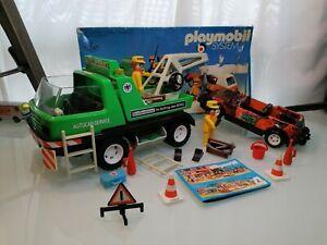 Playmobil System 3473 Abschleppwagen ADAC mit Boschauto Klick 2 mit Karton