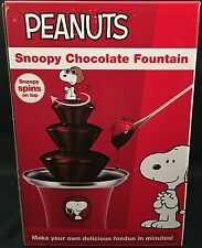 Peanuts Snoopy Chocolate Fountain For Dipping Dessert Fondue Family Fun NEW