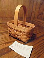 1995 Longaberger Handwoven Small Basket w/Handle Dresden Ohio USA Made       120