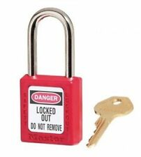 MASTER LOCK 410RED Safety Lockout Padlock Keyed Different Red 1/4In Shackle NEW