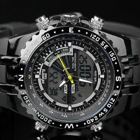 🎁 INFANTRY Mens LED Digital Analog Wrist Watch Stopwatch Sport Military Rubber