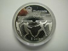 1976 Proof $5 1976 Montreal Olympics #22-Fencing COIN ONLY Canada .925 silver fi