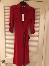 Diane von Furstenberg Wrap Dress DVF - Red Size 4