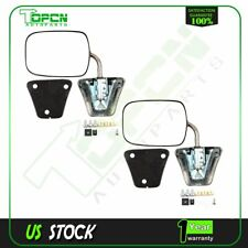 Chrome Side View Rear Manual Mirrors for Chevy GMC Pickup Blazer Pair Set