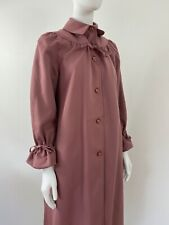 Vintage 1960s Forecaster Of Boston Drawcord Mauve Ruched Trenchcoat Coat Mac