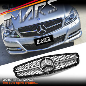 AMG C63 507 Style Front Bumper GRILLE GRILL for Mercedes-Benz C-Class W204 C204