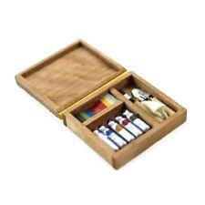 Miniature Artist Paint Pen Wooden Box Model Toys For 1:12 Dollhouse Accessory