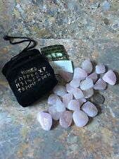 Rose Quartz Runes, Rune Stones with Pouch & Runic Symbol Sheet, Love Stone