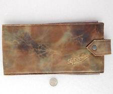 Vintage soft shirt collar case Art Deco 1920s leather wallet travel holder