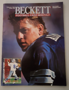 Beckett Football Magazine #59 February 1995 Troy Aikman, Jeff Blake, Seau NM