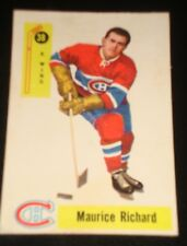 MAURICE ROCKET RICHARD 1958 Parkhurst #38, Montreal Canadiens, Hockey Card