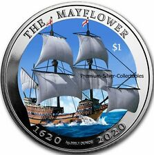 2020 British Virgin Islands Mayflower 1 Ounce Pure Silver Colorized Series!