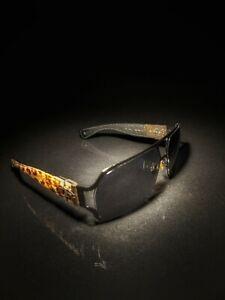 Chrome Hearts | Silver Leopard Print Pony Hair Rehab Sunglasses