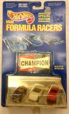 Hot Wheels MINI FORMULA RACERS, 1989 Hot Wheels Special Edition 3 Cars, MINT MIB
