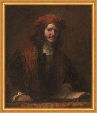 The Man with the Red Cap Rembrandt van Rijn Männer Kappe Mantel Hut B A2 03156
