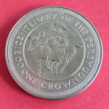 ISLE OF MAN 1980 UNC BICENTENARY OF THE DERBY CROWN