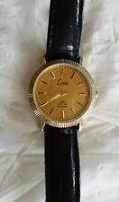 Limit Ladies 24k Gold Leaf 2 Diamonds Watch Leather Strap