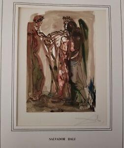 Hand Signed Salvador Dali The Divine Comedy