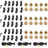 "10/20/30x 1/4"" Slip-Lok Tees Brass Misting Nozzles For Cooling System 10/24 UNC"