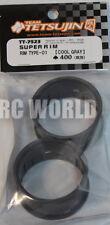 RC Car 1/10 DRIFT WHEELS RIMS Adjustable Offset  3mm-6mm-9mm -GRAY LIP -4 RINGS