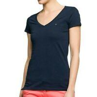 Baumwolle T-Shirt Alle Großen Tommy Hilfiger Damen 3//4 Arm T-Shirt