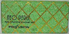 PROFUSION 15 Shades Pressed Powder NEO PERLE Eyeshadow Journal Set GREEN & GOLD