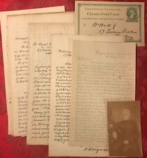Vol II 1888 Family Record Dingwall Fordyce Aberdeenshire 10 SIGNED LETTERS Photo