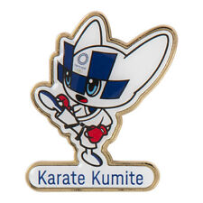 Tokyo 2020 Olympic Games official mascot Pin Badge Karate Kumite Japan Olympics