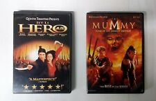 Hero + The Mummy:Tomb Of The Dragon Emperor Dvds(Jet Li) Action Horror
