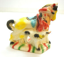 """Vintage 1950'S Chalkware Original The Lady Cowboy ~ Horse Dog And Cowgirl 10"""""""