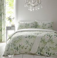 Dreams & Drapes Florence Reversible Easy Care Duvet Cover Bedroom Range Green