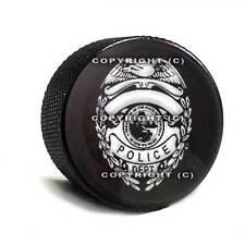 Black Billet Aluminum Bolt for Harley Mounting Seat to Top Fender - Police Badge