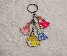 DISNEY PRINCESS Multi-Charm KEYRING Chain Handbag Gift Cinderella Belle Ariel