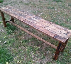 Bench - Handmade- Reclaimed Pallet Wood - Upcycled - Vintage, Rustic Look